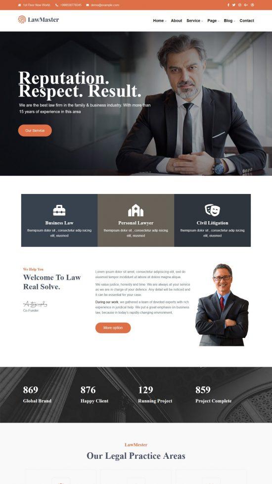 lawmaster premium wordpress theme 01 550x978 - Lawmaster Premium WordPress Theme