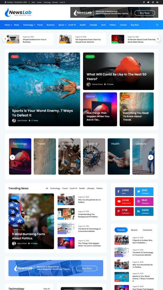 newslab premium wordpress theme 01 550x978 - NewsLab Premium WordPress Theme