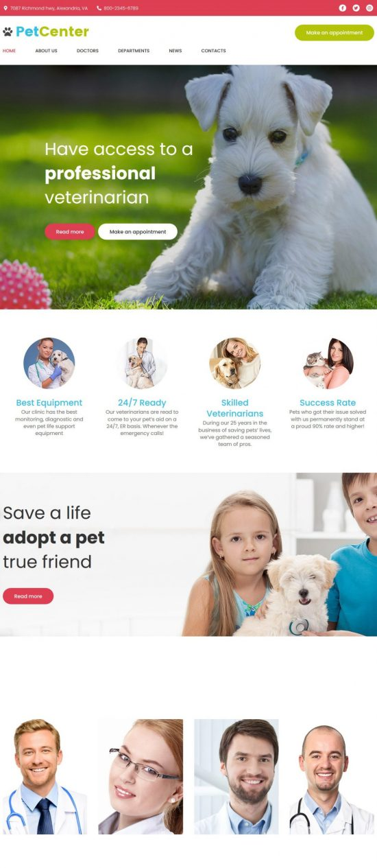 petcenter premium wordpress theme 01 scaled 550x1265 - PetCenter Premium WordPress Theme