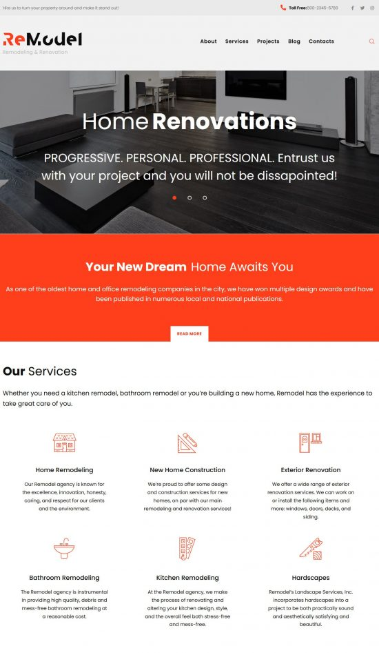 remodel premium wordpress theme 01 550x946 - Remodel Premium WordPress Theme