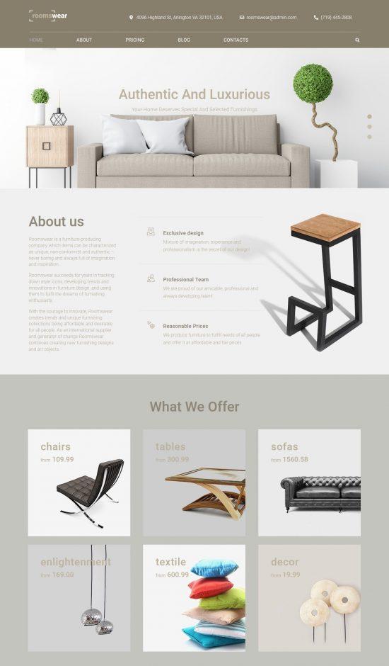 roomswear premium wordpress theme 01 550x940 - Roomswear Premium WordPress Theme