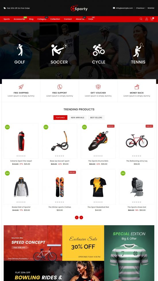 sporty premium shopify theme 01 550x978 - Sporty Premium Shopify Theme