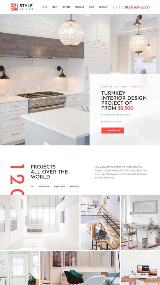 style vision premium wordpress theme–01 550x978 - Style Vision Premium WordPress Theme