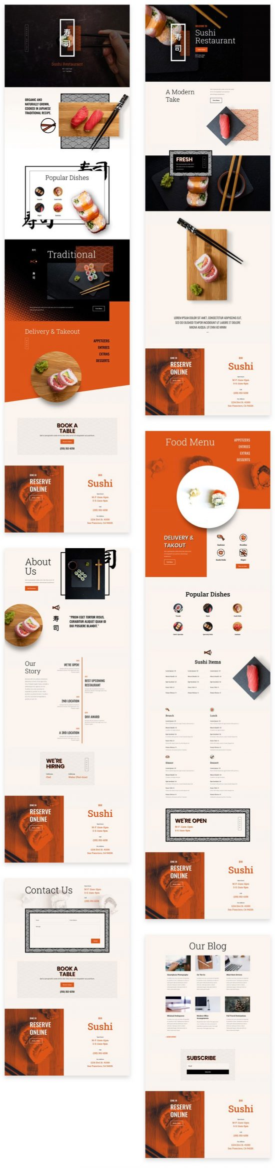 sushi restaurant divi layout by elegant themes 01 550x2331 - Sushi Restaurant Divi Layout By Elegant Themes