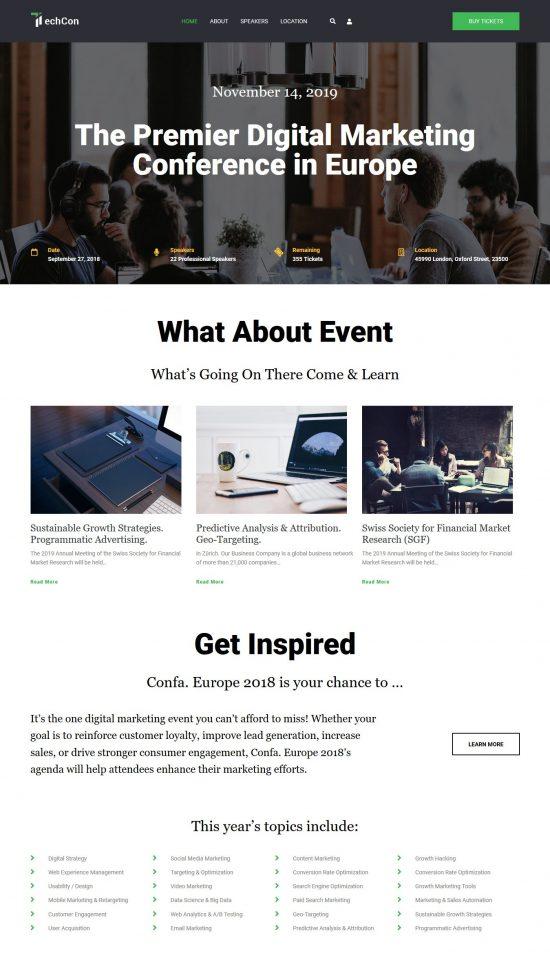 techcon premium wordpress theme 01 550x960 - TechCon Premium WordPress Theme