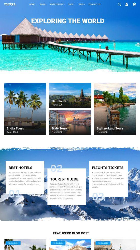 tourza premium wordpress theme 01 550x978 - Tourza Premium WordPress Theme