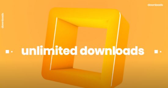 unlimited downloads 550x289 - Why to Choose MonsterONE? Top 10 Reasons to Join the Subscription That You Should Consider