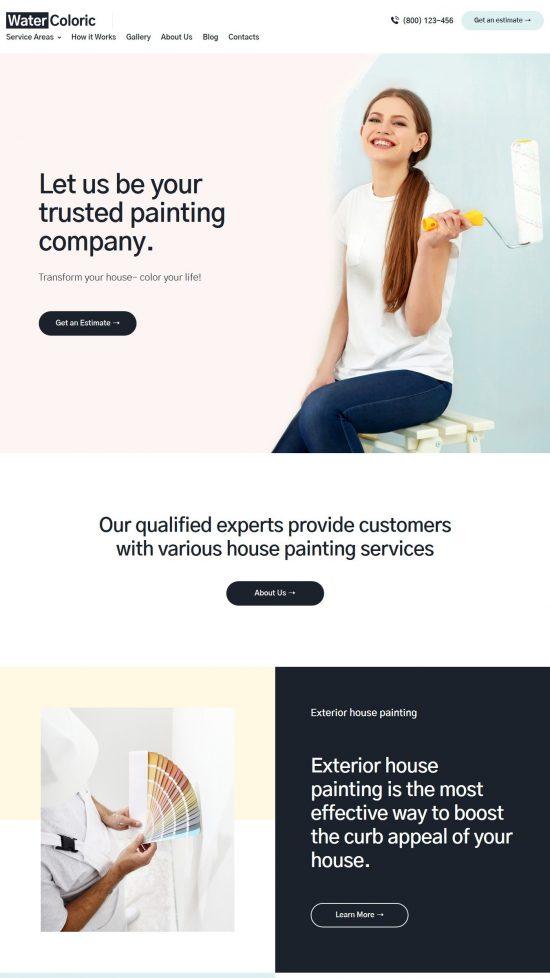 watercoloric premium wordpress theme 01 550x978 - WaterColoric Premium WordPress Theme